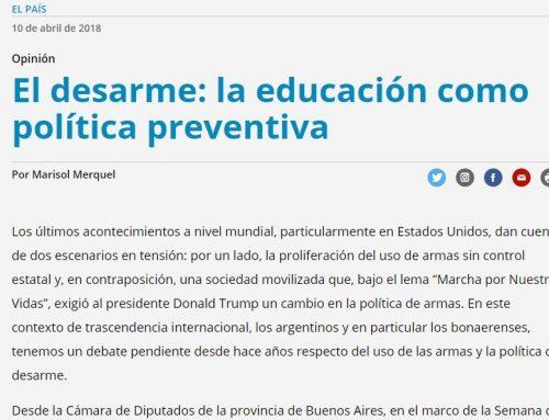 El Desarme: La educación como política preventiva