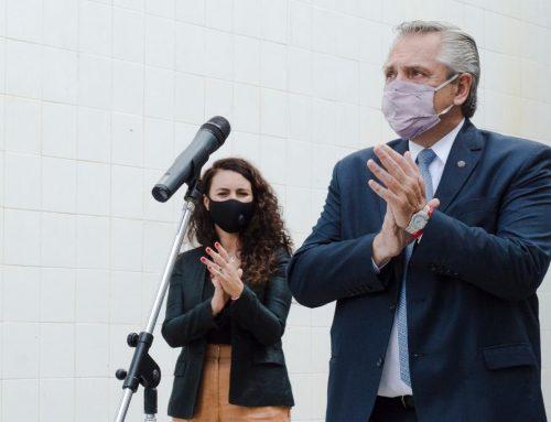 El Presidente Alberto Fernández encabezó un acto en la Universidad Nacional de Hurlingham